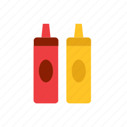 food, ketchup, mustard icon