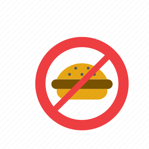 burguer, fast food, food, forbidden, hamburguer, healthy, sign icon