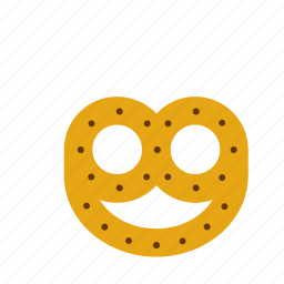 biscuit, food, pretzel icon