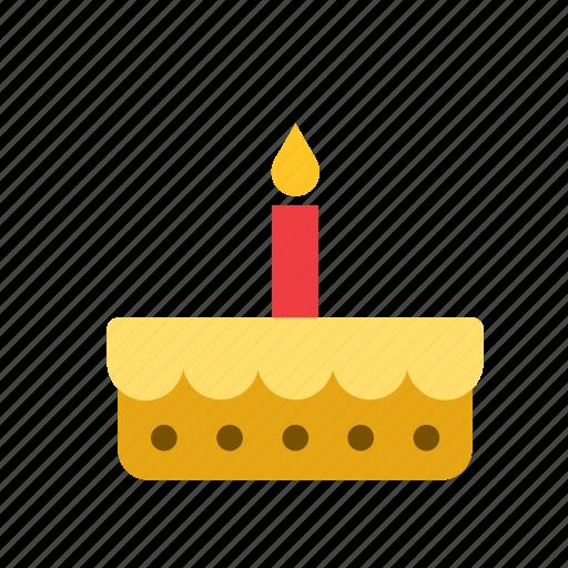 birthday, cake, food, pastry, pie icon