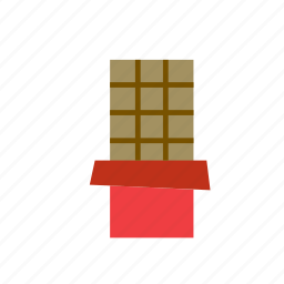 bar, chocolate, food icon