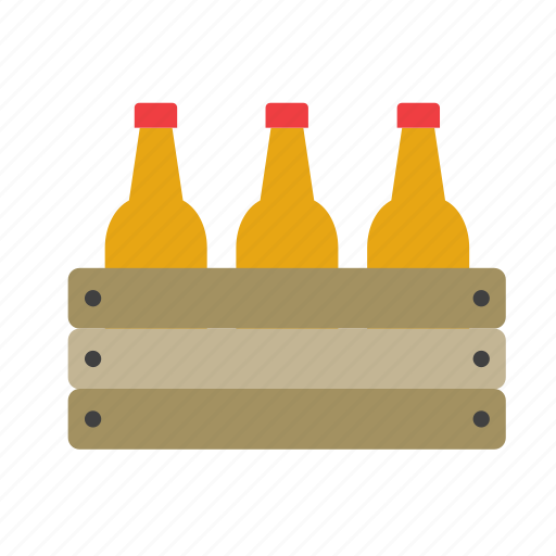 beer, beverage, bottle, box, case, drink icon