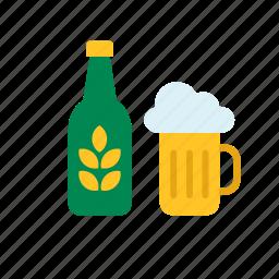 beer, beverage, bottle, drink, mug, stein, tankard icon