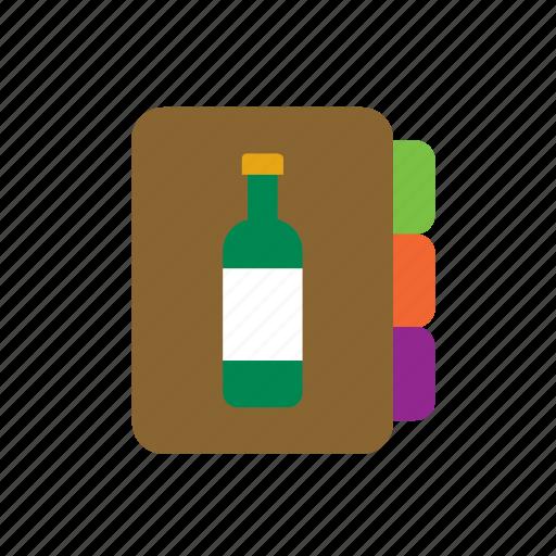 beverage, cellar, drink, list, menu, restaurant, wine icon