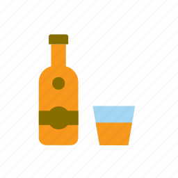 alcohol, alcoholic, beverage, drink, glass, rum icon