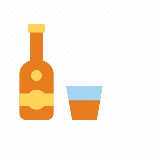 alcohol, alcoholic, beverage, bottle, drink, rum icon