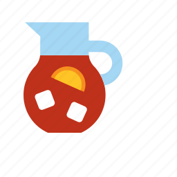 beverage, drink, pitcher, sangria, soda, summer icon