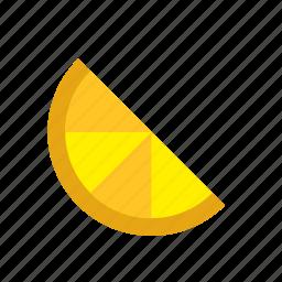 food, fruit, half, lemon, orange, slice icon