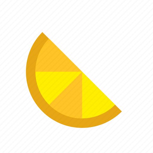food, fruit, half, lemon, orange, slice icon