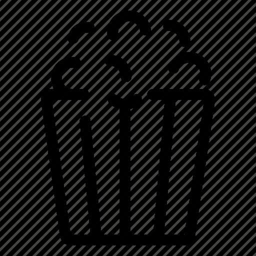 beverage, dessert, drink, food, popcorn icon