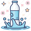 aqua, bottled water, mineral water, natural water, sports water, water icon