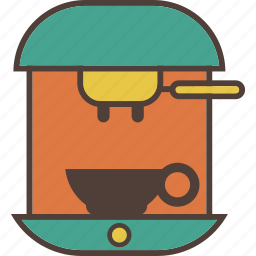 cafe, coffee, coffee maker, drink, espresso, hot, machine icon