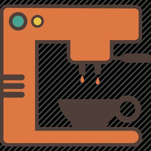 Cafe, coffee, coffee machine, drink, espresso, maker icon - Download on Iconfinder