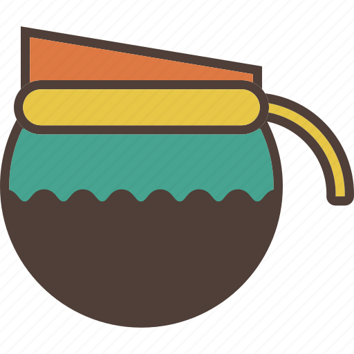 coffee, filter, hot drink, kettle, pot icon