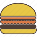 burger, cheeseburger, fast food, food, hamburger icon