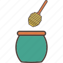 bees, food, honey, jar, sweet icon