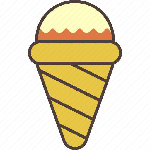 chocolate, cold, cone, icecream, strawberry, summer, sweet icon