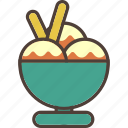 bowl, cold, icecream, summer, sweet icon