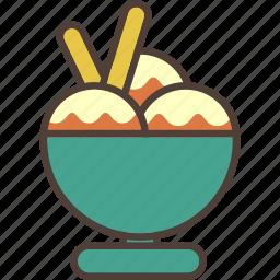 bowl, cold, icecream, summer, sweet icon