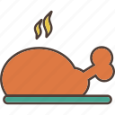 chicken, dinner, kitchen, meal, meat icon