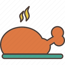 chicken, dinner, kitchen, meal, meat icon