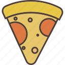 fast, food, hot, italy, piece, pizza
