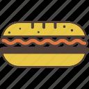 sandwich, meat, salad, food, snack, bread