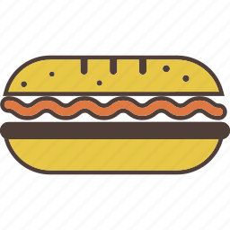 bread, food, meat, salad, sandwich, snack icon