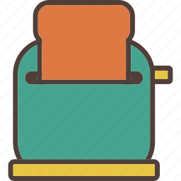 bread, breakfast, electric, food, home, kitchen, toaster icon