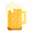 beer, foam, root beer icon