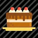 black forest cake, cake, cherry