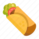 burrito, food, taco icon