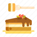 cake, honey, slice icon