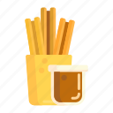 breadstick, churros