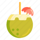 coconut, coconut juice icon