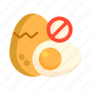 egg, egg free, no egg icon