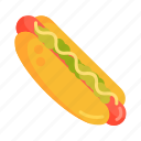 dog, hot, hot dog, sausage icon