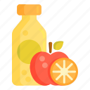 apple juice, fruit juice, juice icon