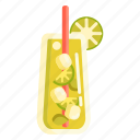 mojito, lime, cocktail icon