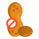 no peanut, no peanuts, nut free, peanut icon