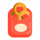 onion fries, onion rings icon