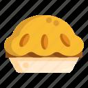 apple crumble pie, pie