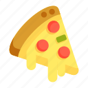 pizza, pizza slice icon
