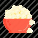 pop corn, popcorn, snack icon