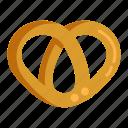 pastry, pretzel, snack icon