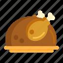 chicken, roasted, turkey icon
