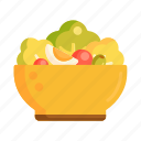 salad, salad bowl icon