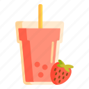 ice blended, smoothies, strawberry juice icon