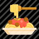 noodles, bolognese, spaghetti