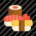 japanese food, sushi, tamago icon